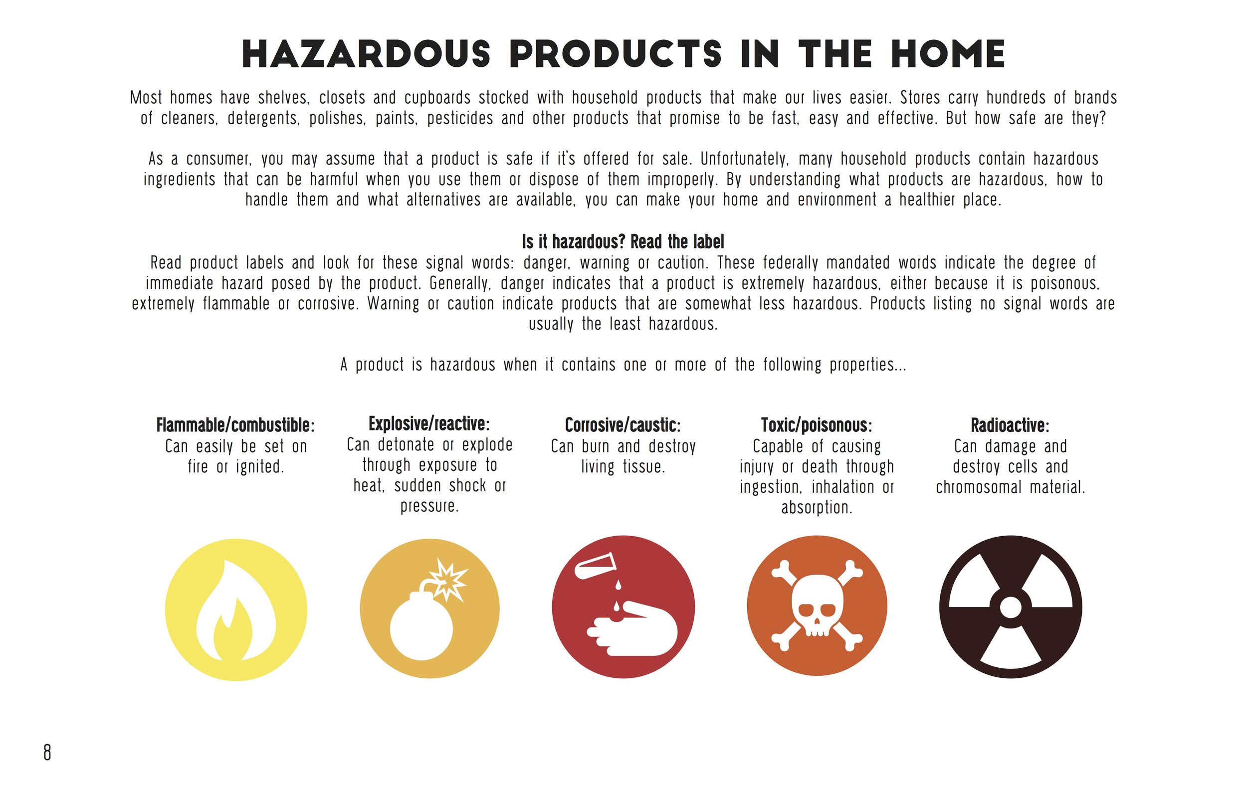 Hazard free home handbook hannah paxton graphic symbols were used throughout the handbook for a quick visualization of the hazards of each biocorpaavc