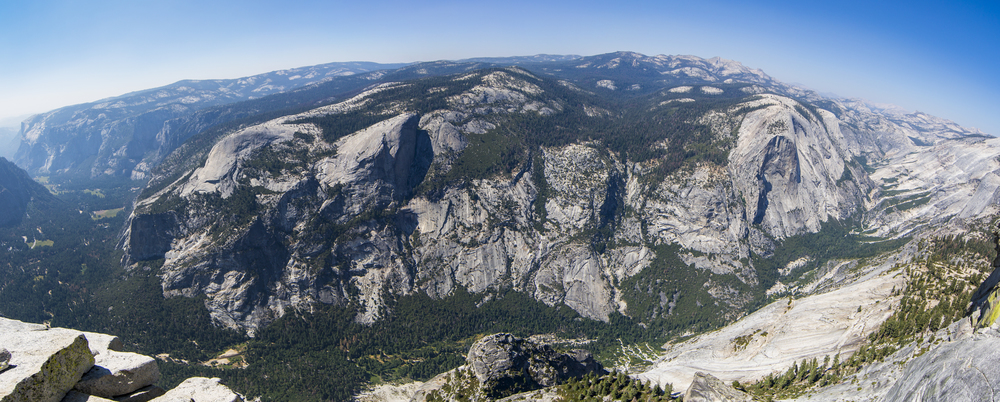 The view on the Half Dome