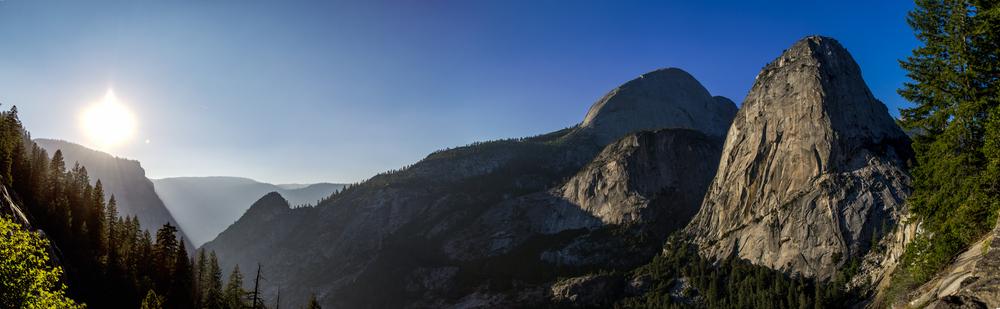 Stunning view after passing the Nevada Fall through the John Muir Trail