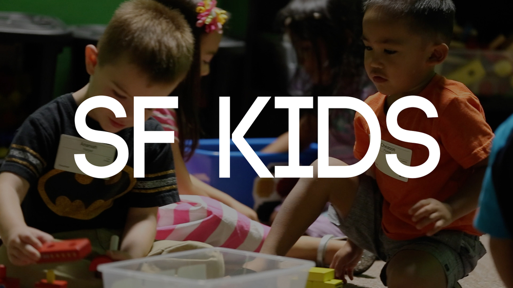 For newborns - 5th grade, SF Kids is a children's ministry uniquely designed with your child in mind! Kids experience safe, age-appropriate environment where the Bible is taught in a creative and relevant way.  MORE INFO