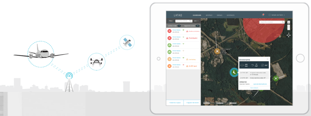 Precision Hawk is also developing LATAS (Low Altitude Traffic and Airspace Safety) platform connects leading airspace management technologies, such as sense and avoid, geofencing and aircraft tracking.