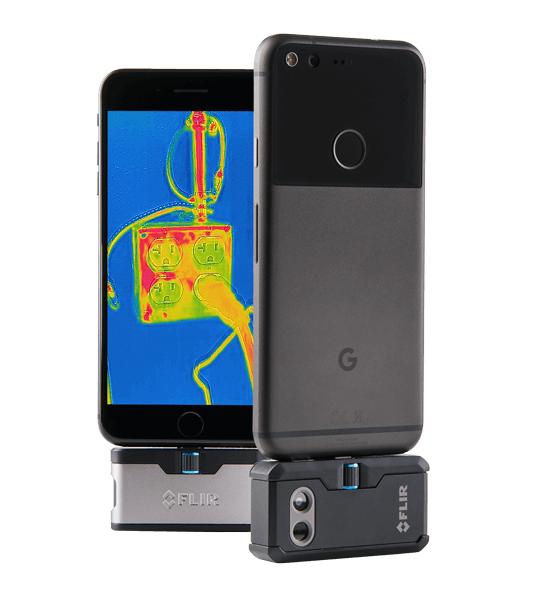 Image courtesy of FLIR, FLIR ONE and FLIR ONE Pro thermal cameras