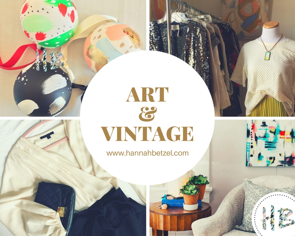 Come check out my ever-changing selection of vintage clothing and revolving gallery! I'm also reserving a few ornaments just for this event, so stop in and grab yours before they're gone!!