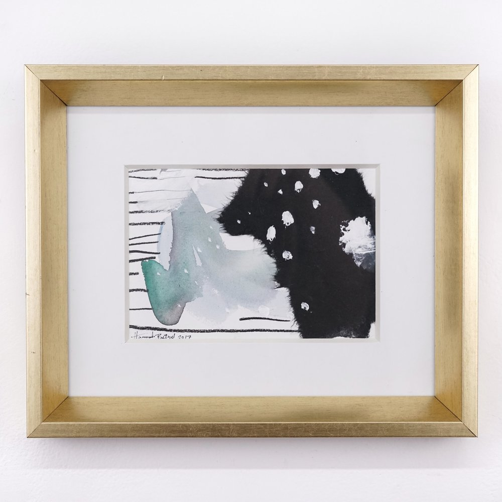 Hannah Betzel, Consisitent Consistent Consistent, 5x7 mixed media on paper, $138 framed.jpg