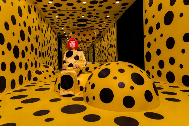 Yayoi Kusama at Madame Tussauds Hong Kong. Image by Madame Tussauds Hong Kong