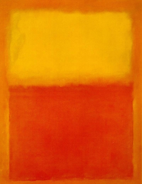 ORANGE AND YELLOW, 1956 BY MARK ROTHKO