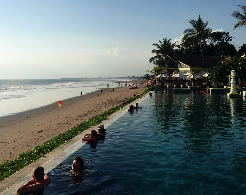 -  We spent the day in Seminyak exploring the hipster bars, cool cafes and chic boutiques before relaxing poolside at the Seminyak Hotel.