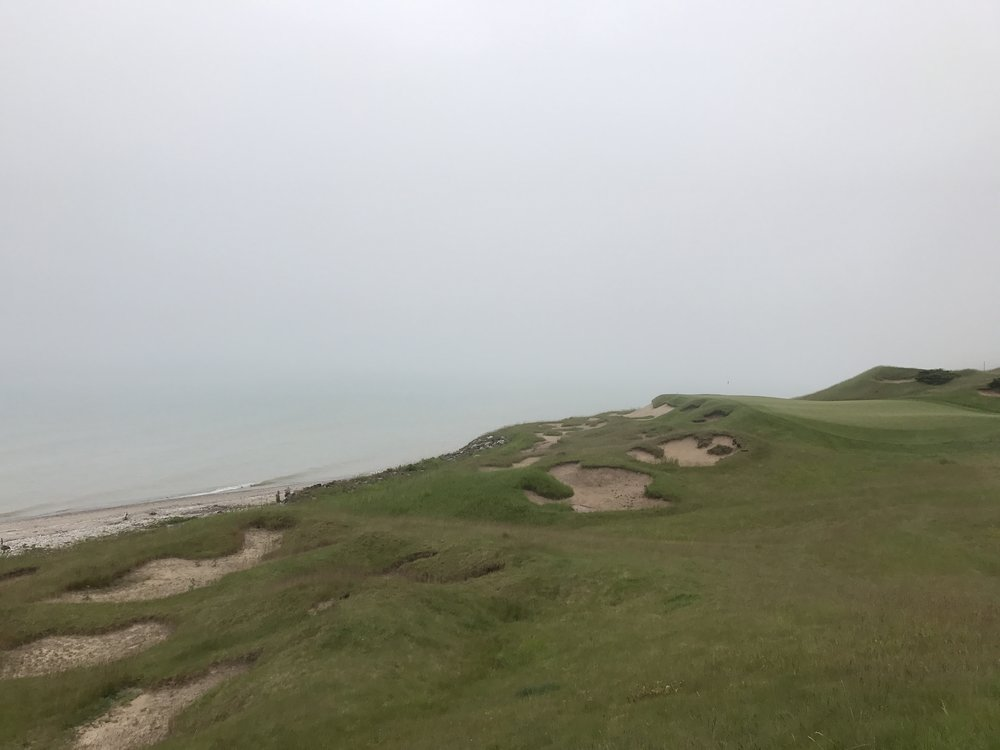 Day 4 -  Whistling Straits is arguably the greatest championship course in the United States. It most certainly lived up to its reputation. Golfing on a foggy morning had us reliant on our caddies for direction to the flag.