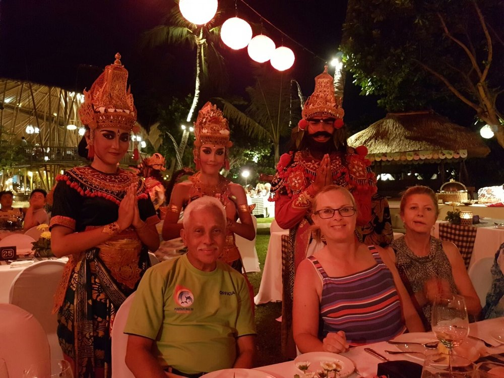 - Enjoying an Indonesian buffet dinner whilst watching the Kecak dancers perform.