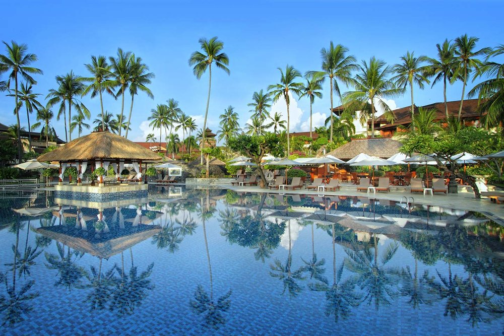 - Our next stop was the Nusa Dua Beach Hotel. We had an awesome time enjoying the beach, the evening traditional dance performances, the spa, yoga and all that the resort had to offer.