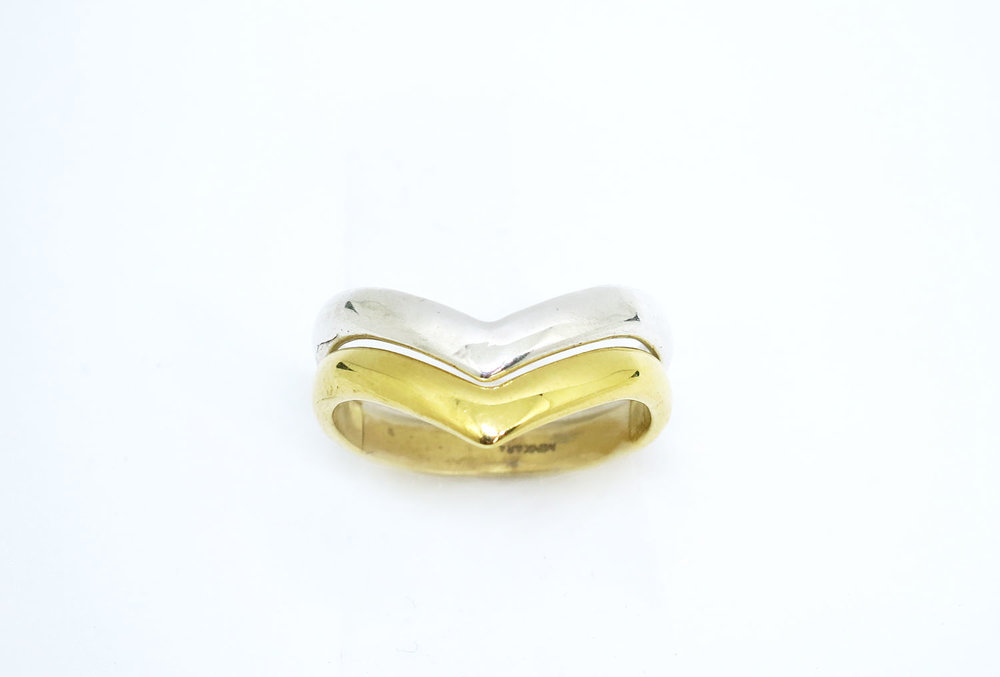 Copy of Chevron Ring Silver