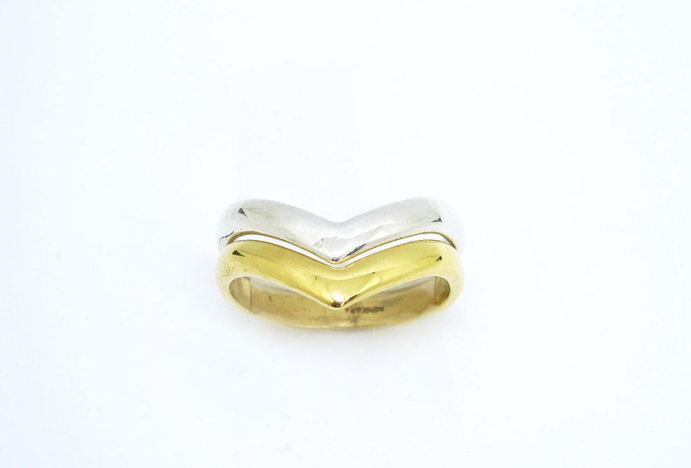 Chevron Ring Silver