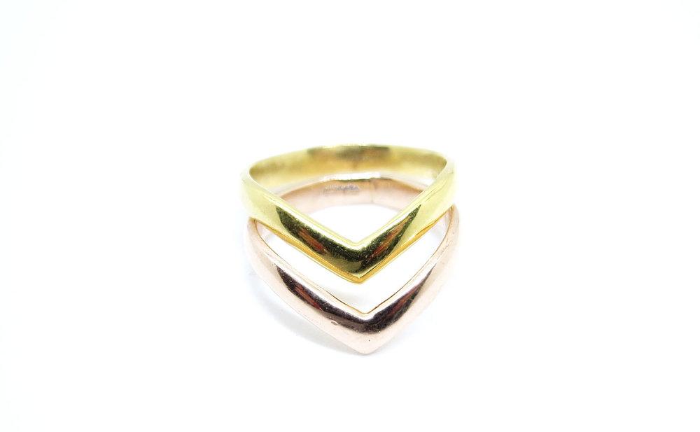 Chevron Ring Rose Gold
