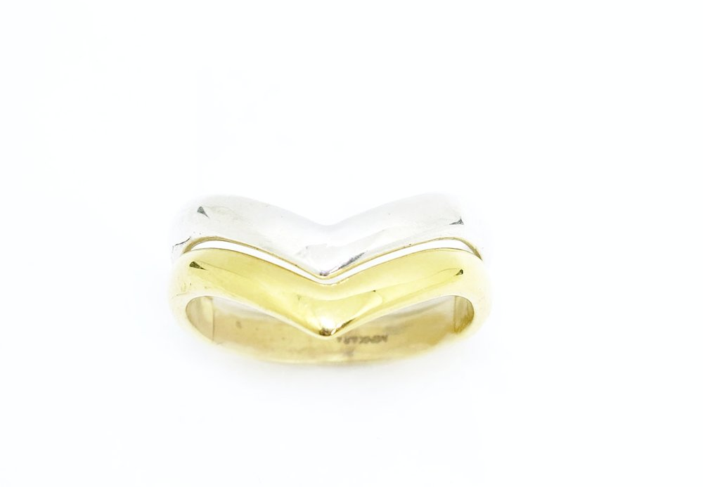 Yellow Gold Chevron Ring