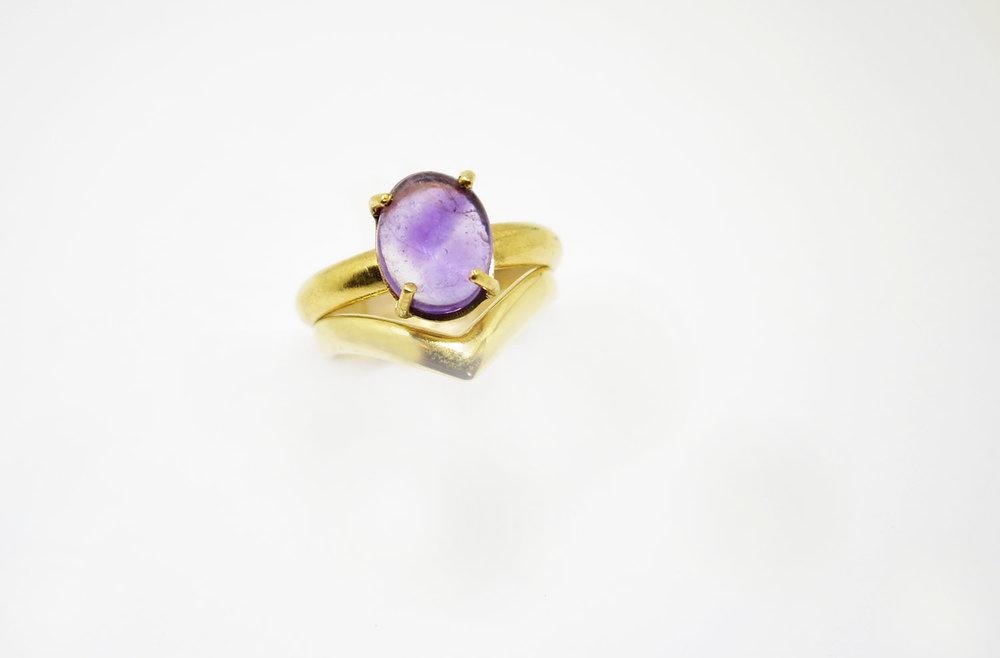 Copy of Chevron Ring Gold