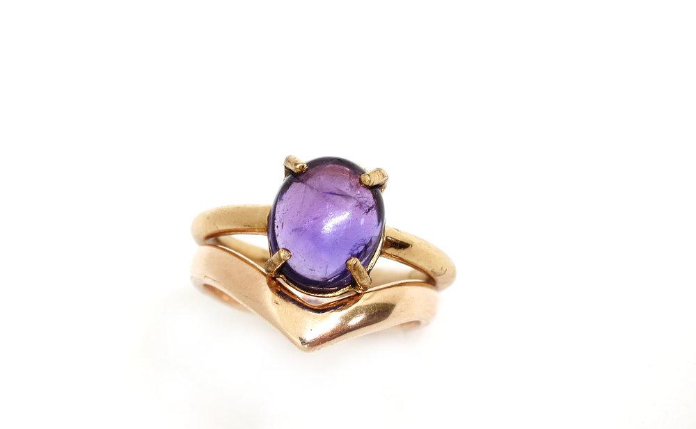 Copy of Chevron Ring Rose Gold