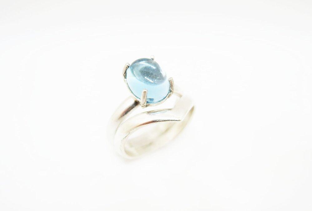 Silver Chevron Ring