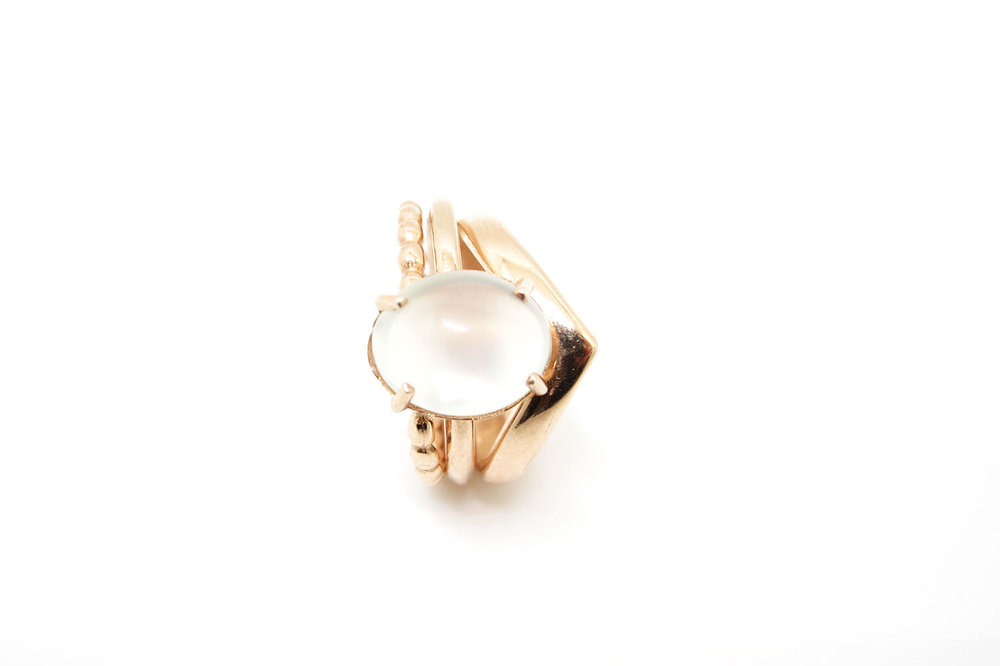 Copy of Chevron Ring Rose Gold
