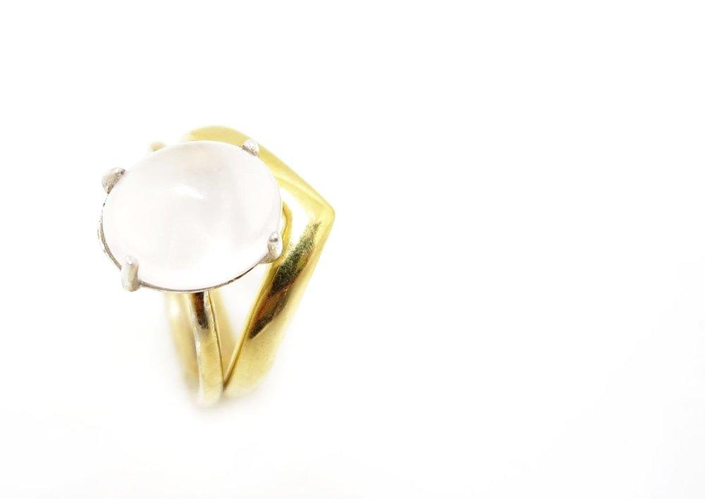 Chevron Ring Gold
