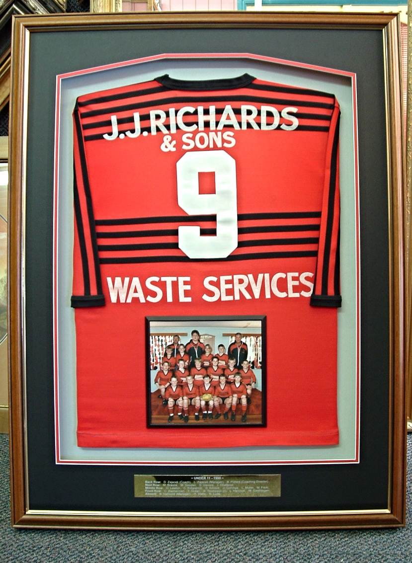 How a great jersey should be presented and preserved.