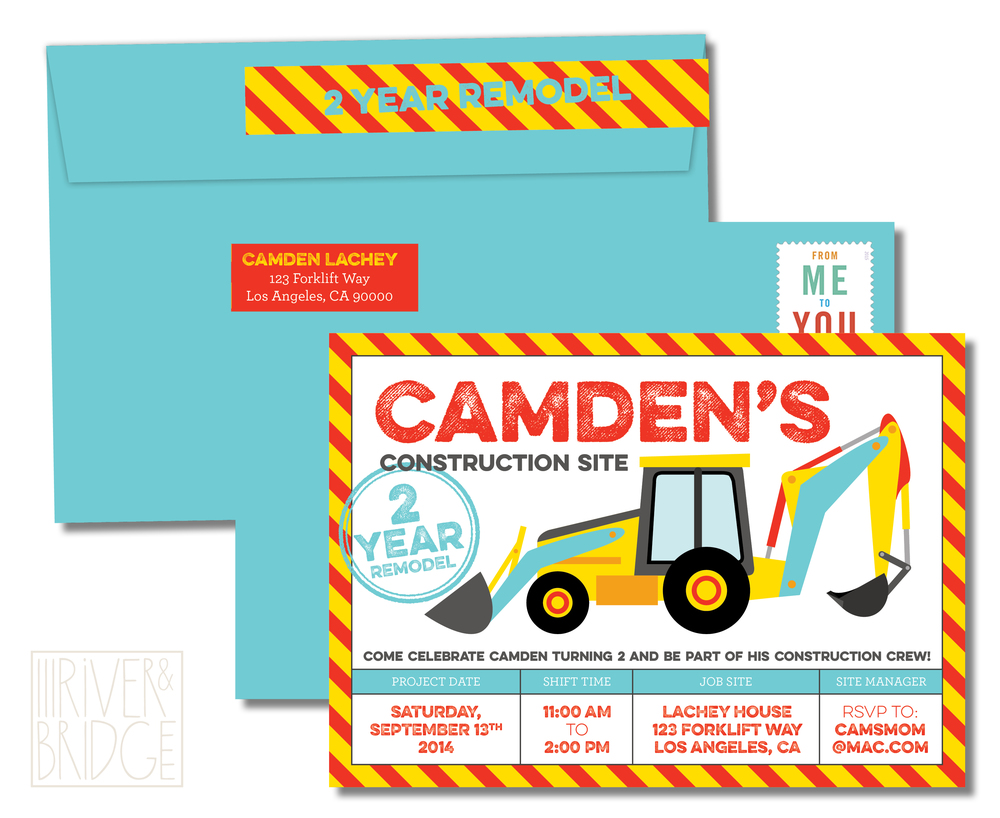 Since Camden Is Really Into Construction Trucks Right Now She Wanted To Use That As The Theme For His Party