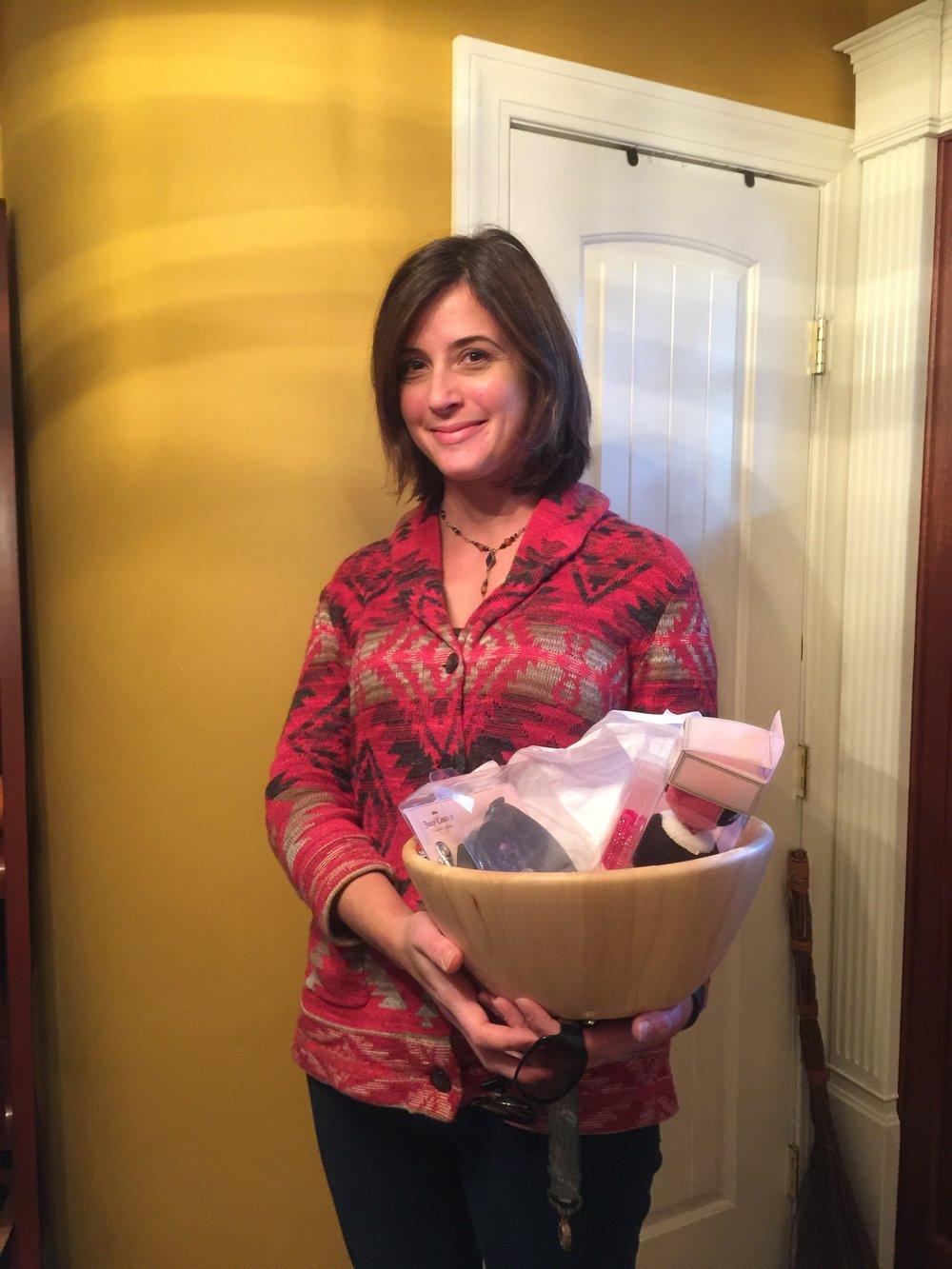 Jessica Flinn won the Juicy Coutre Pet Toy Basket! Congrats!