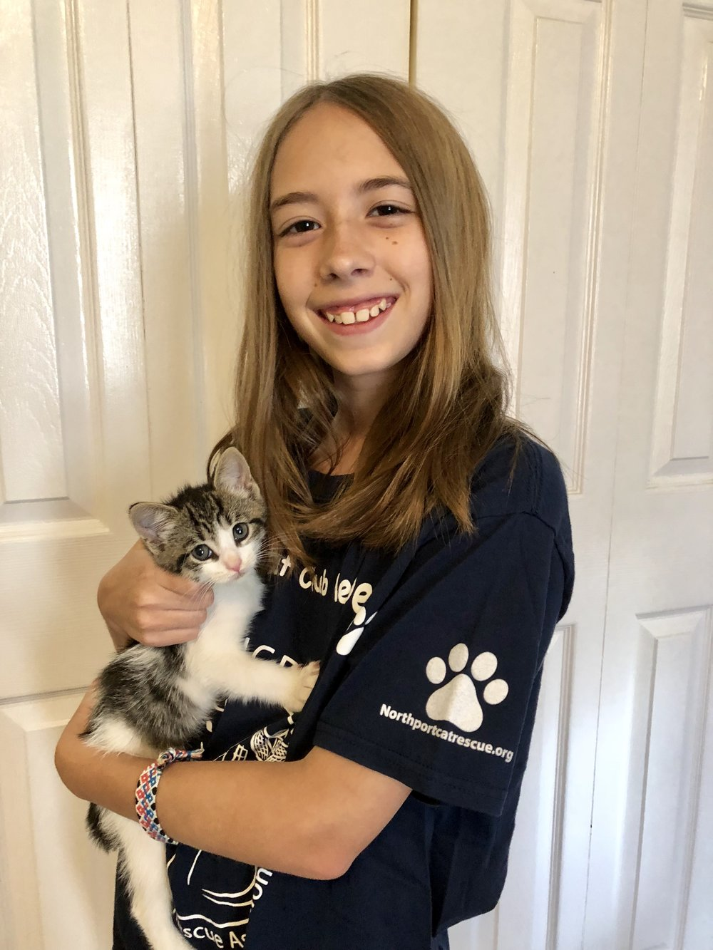 Alyssa with seven weeks old Owen -