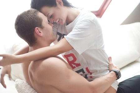 Playful couple image