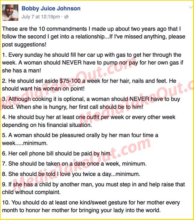 The Gentleman's 10 Commandments