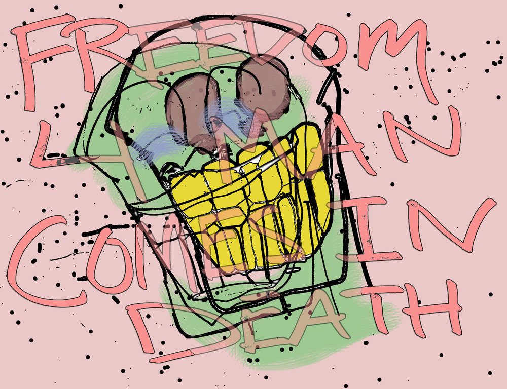 Freedom 4 Man (Pencil & Digital Colouring, 2017)