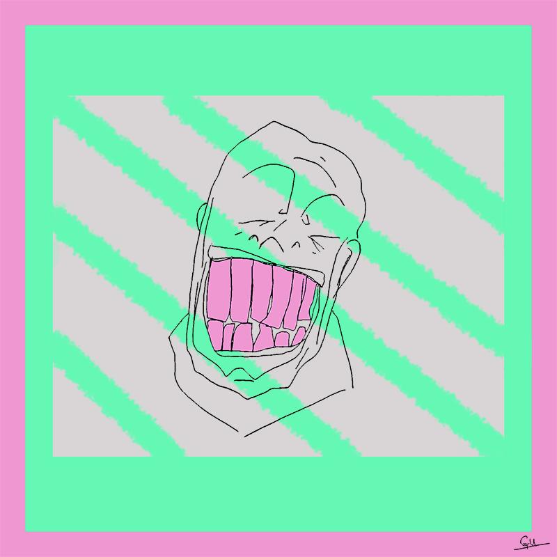 Smiling Prisoner #2 (Pen & Ink, Digital Colouring, 2016)