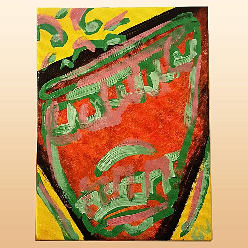 & Brimstone (Acrylic on canvas, 2017)