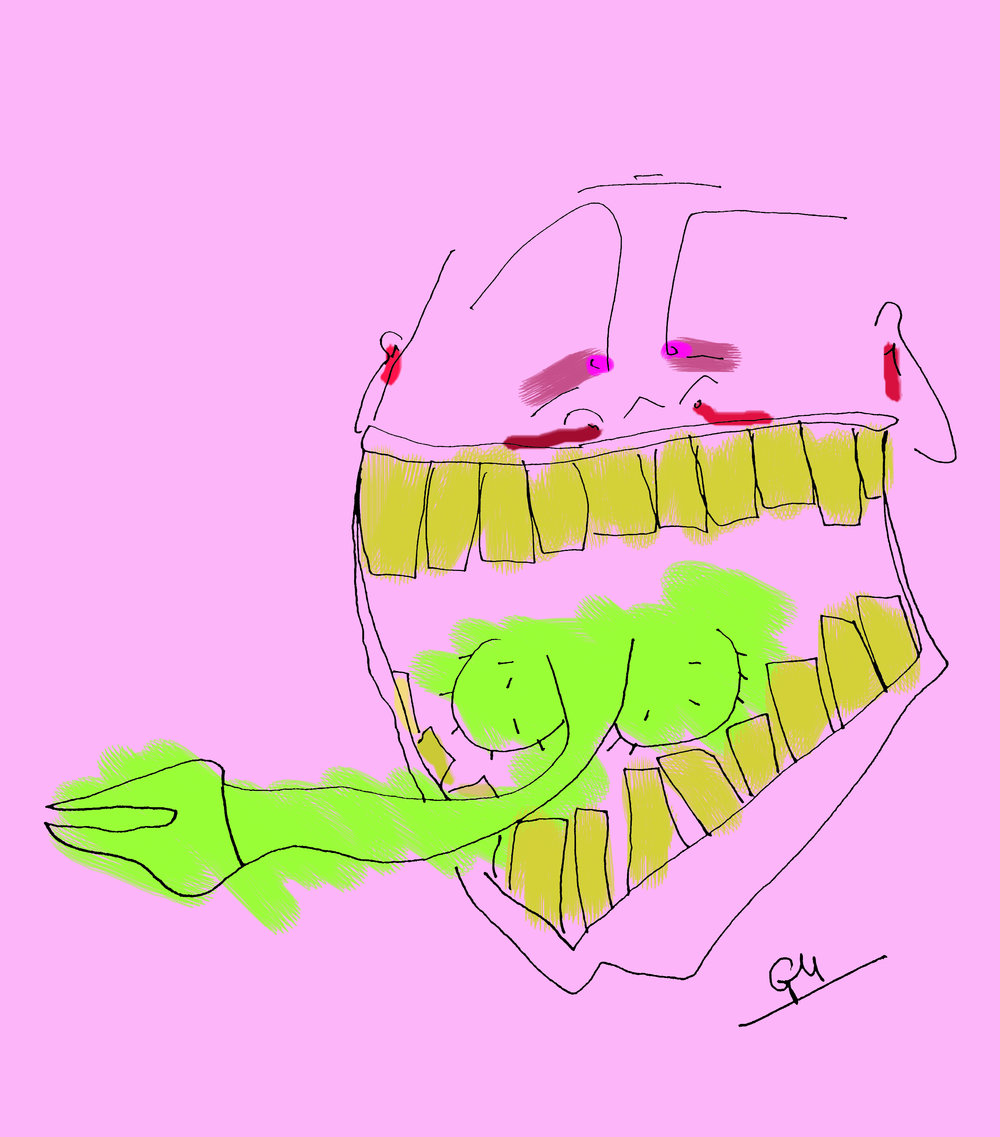 Stomach Acid (Ink & Digital Colouring, 2017)