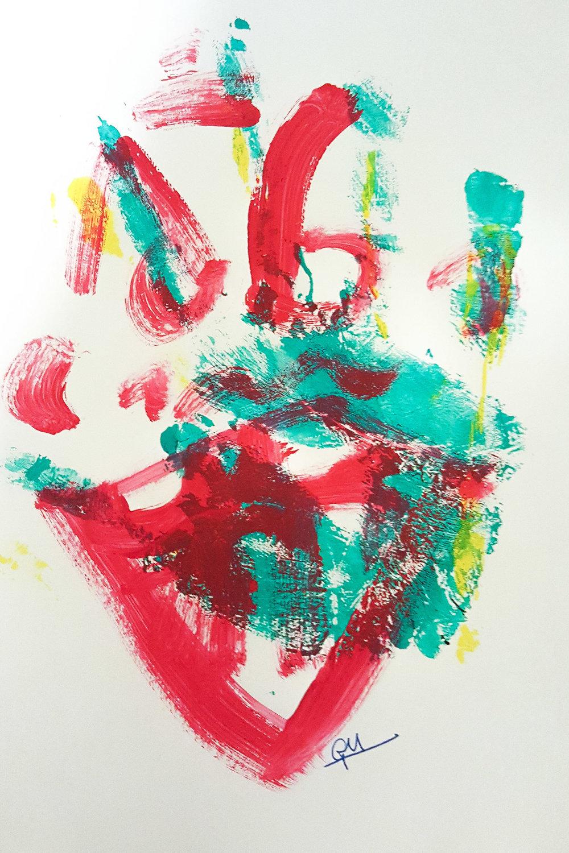 Untitled Handprint (Acrylic, 2017)