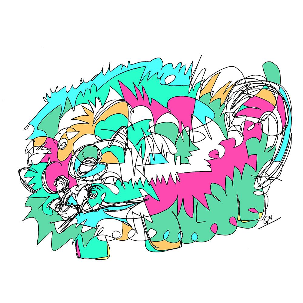 Nunu-Na, the Dream Cat (Ink and Digital, 2017)