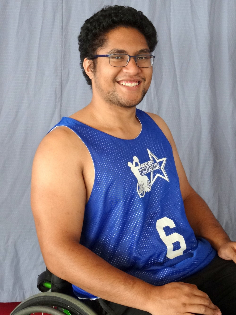 Josh Fuimaono - At 23 years old and I have Congenital Cerebral Palsy.I have played wheelchair basketball for the past 10 years and have also had training in wheelchair rugby.  Coming from a family dedicated to sport and physical prowess, I found it hard to fit in, until I found wheelchair basketball.I was introduced to the sport by an occupational therapist during high school and found that this sport allowed me to be looked at as an equal in my family, kept me fit and active, and has taught me a lot of transferable skills and tactics.I have played for the WheelStarz for the past 3 seasons and now I hold the position of Assistant Coach were I have been given this amazing opportunity to teach younger athletes what I know and help them develop into skilled, confident and successful players.