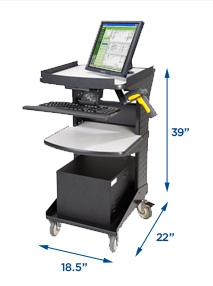 newcastle systems rc series mobile powered workstations