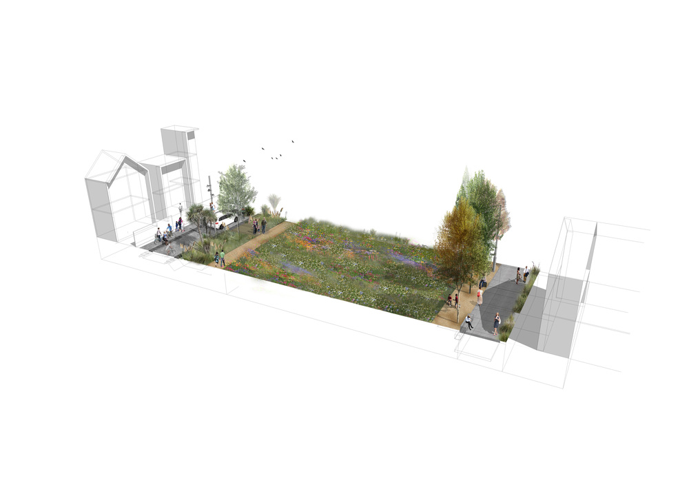 Landlab east frame linear park for Landscape design courses christchurch