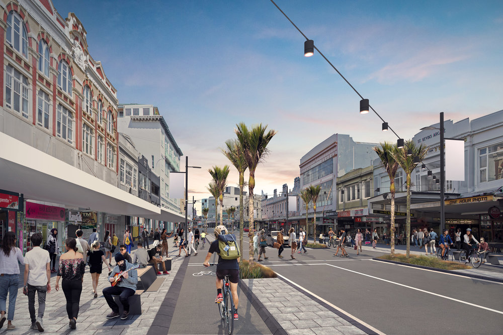 LandLAB are excited to be working with our project partners BECA and MRCagney and the K Road community on the detailed design phase of the Karangahape Road streetscape upgrade. Due for completion in late 2018.