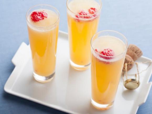 Yumm... Raspberry Mimosas