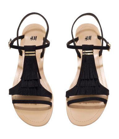Sandals With Fringe