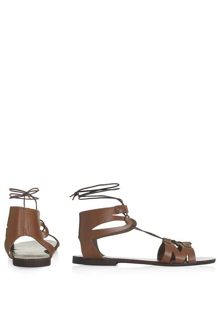 Hilt Flat Tie Sandals