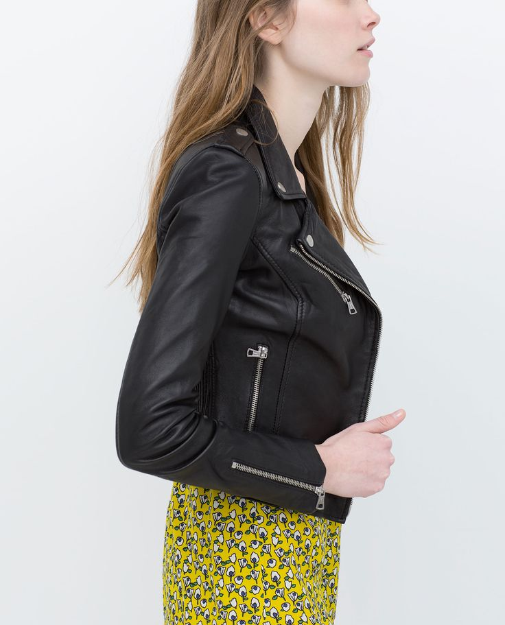 Leather Biker Jacket $199