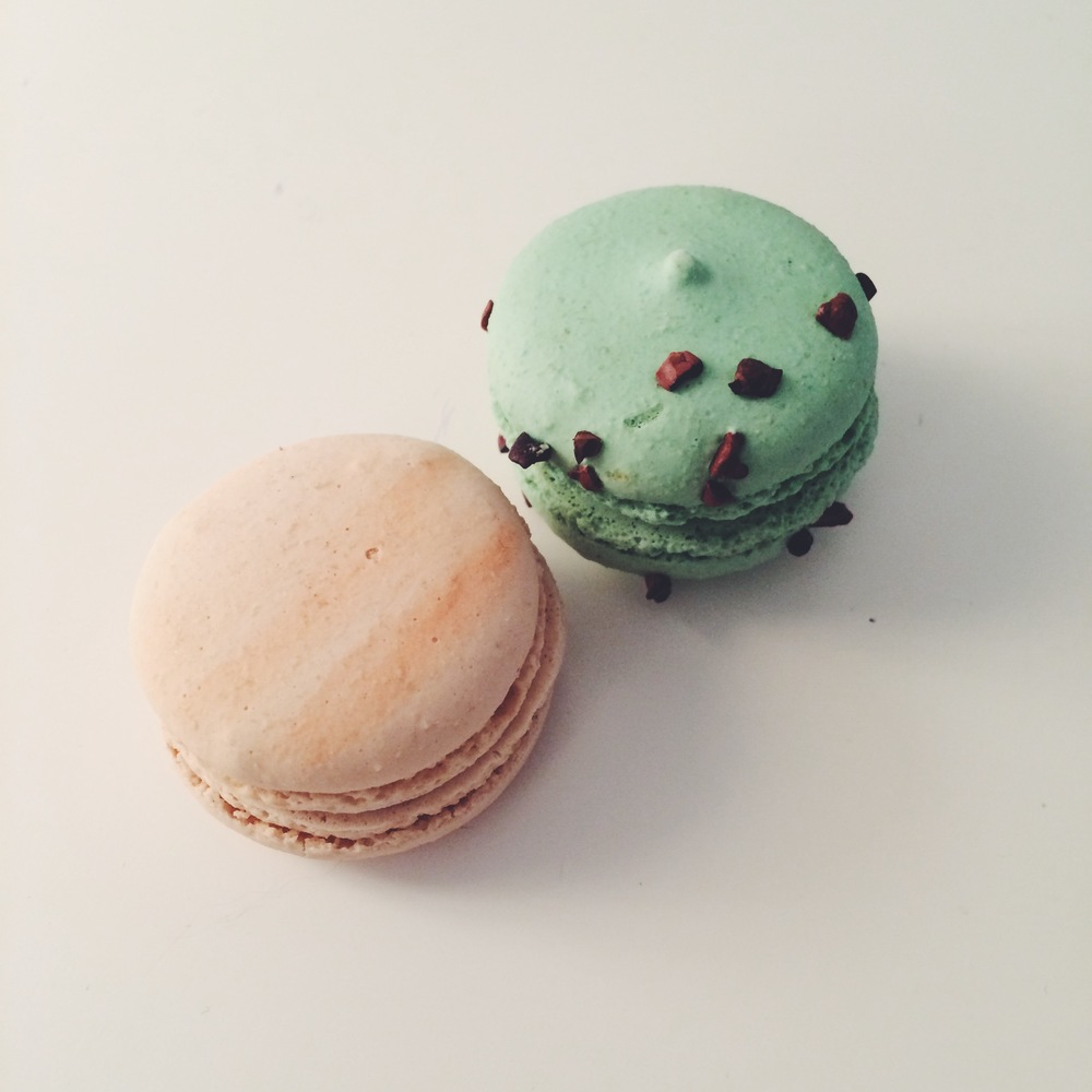Peach and Mint Chocolate Chip