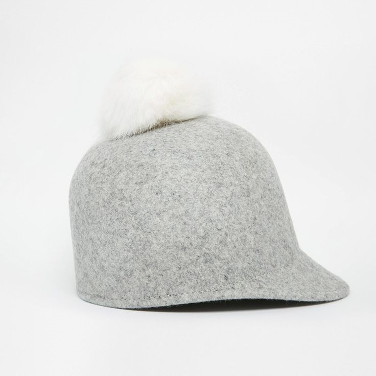 Asos Pom Riding Hat $64.00