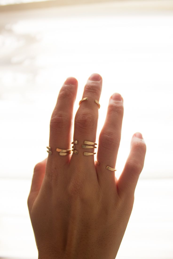 These gorgeous cuff rings are perfect addition to any jewelry collection. They are also perfect for ring-stacking and they can be purchased at Colabination.