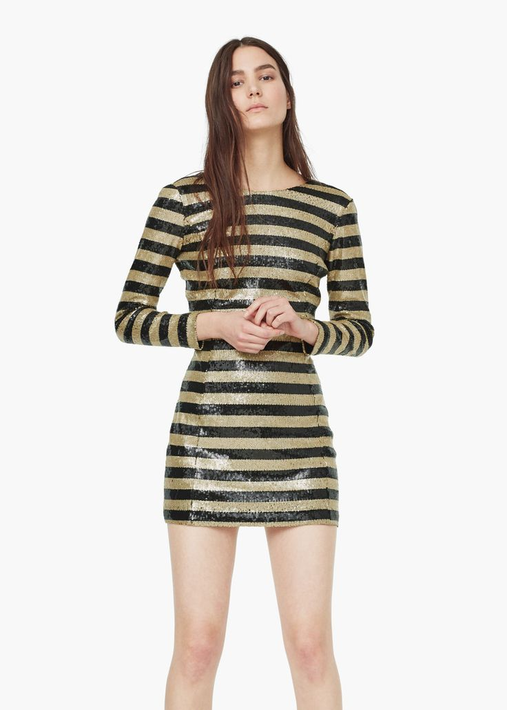 Mango Striped Sequined Dress- 10 Glamorous NYE Outfits