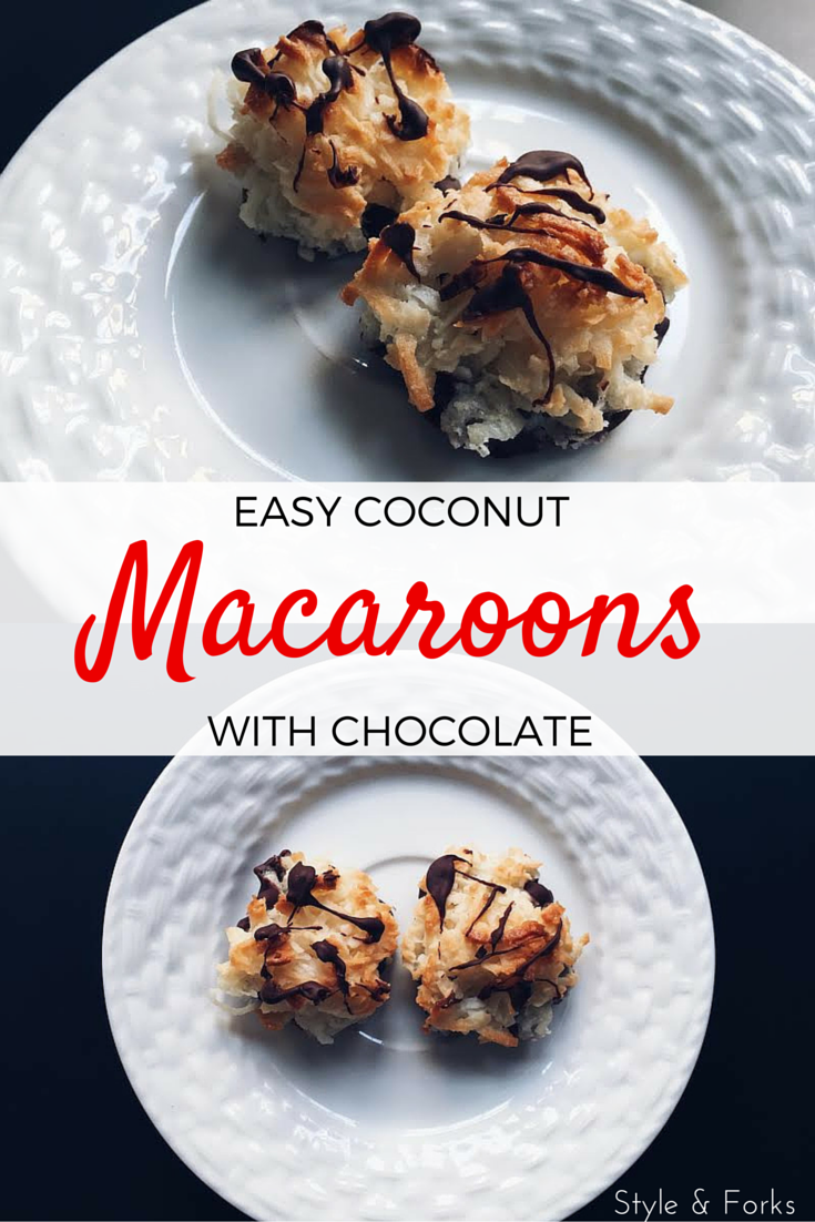 Easy Coconut Macaroons with Chocolate