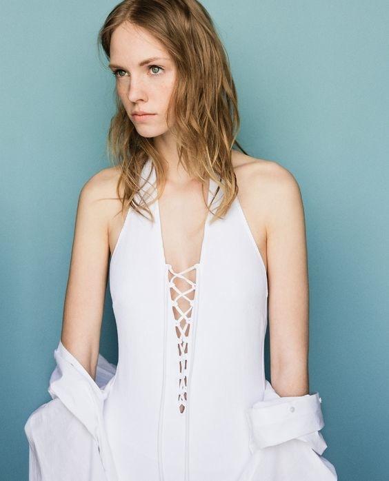 Zara Halter Neck Swimsuit- Style & Forks