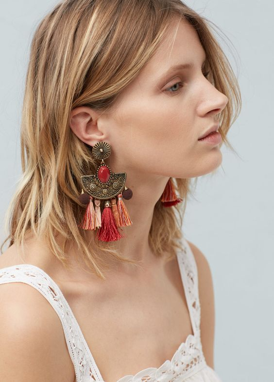 Mango Tassel Earrings